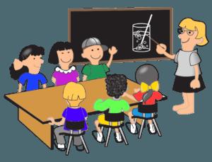 Teacher instructing students image