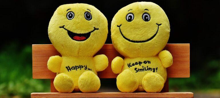 Stuffed happy face animals