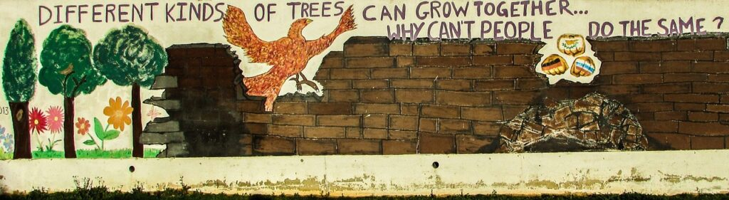 Graffiti with positive message
