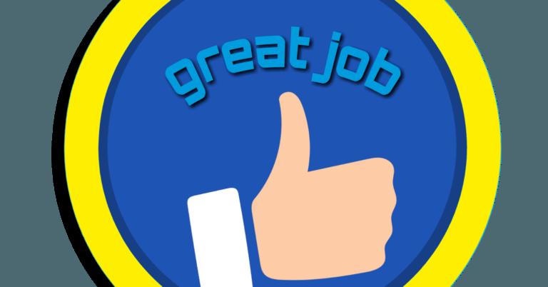 Great Job thumbs up illustration